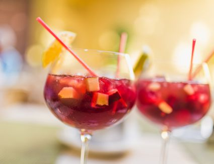 Two cups of sangria