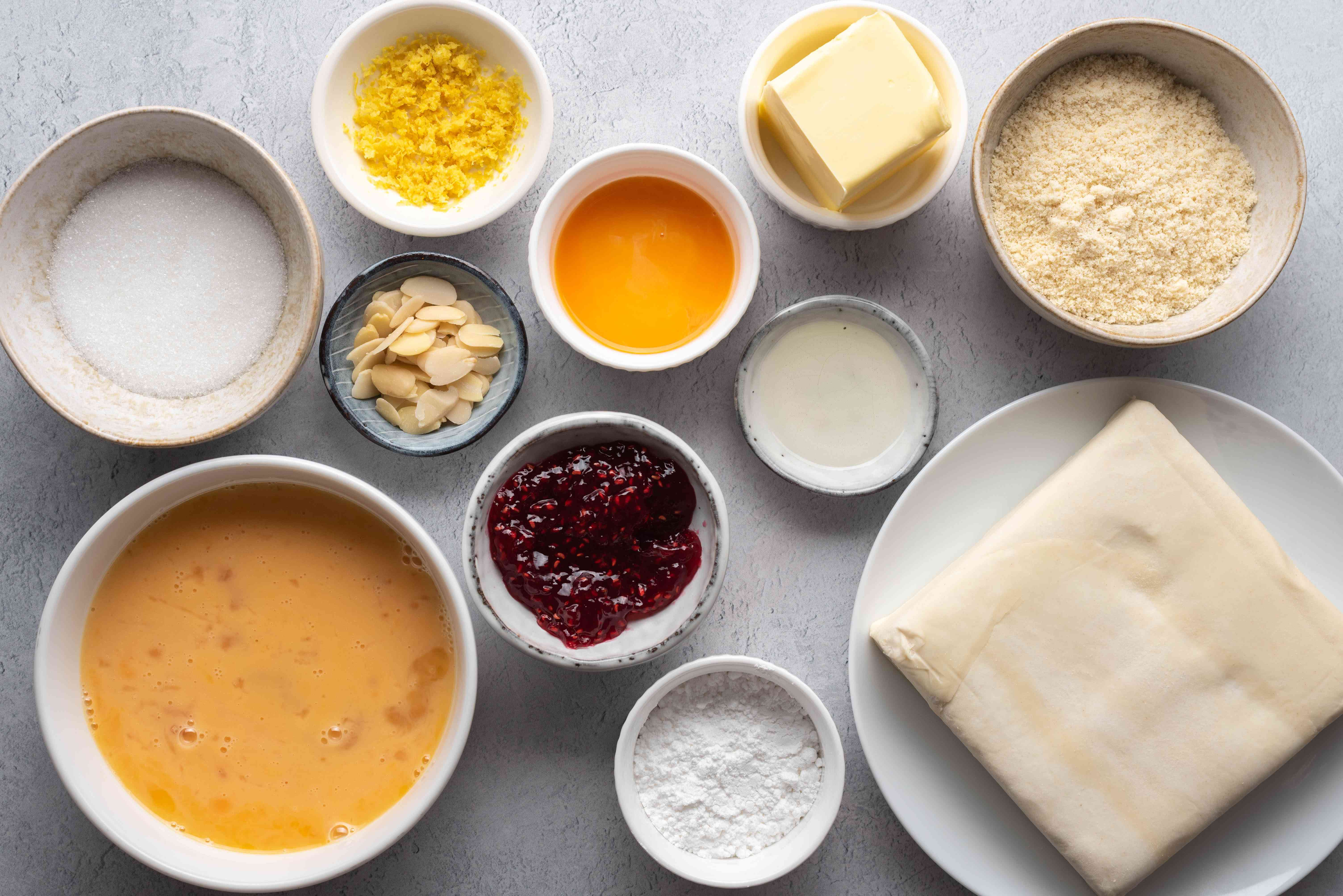Traditional Bakewell Pudding ingredients