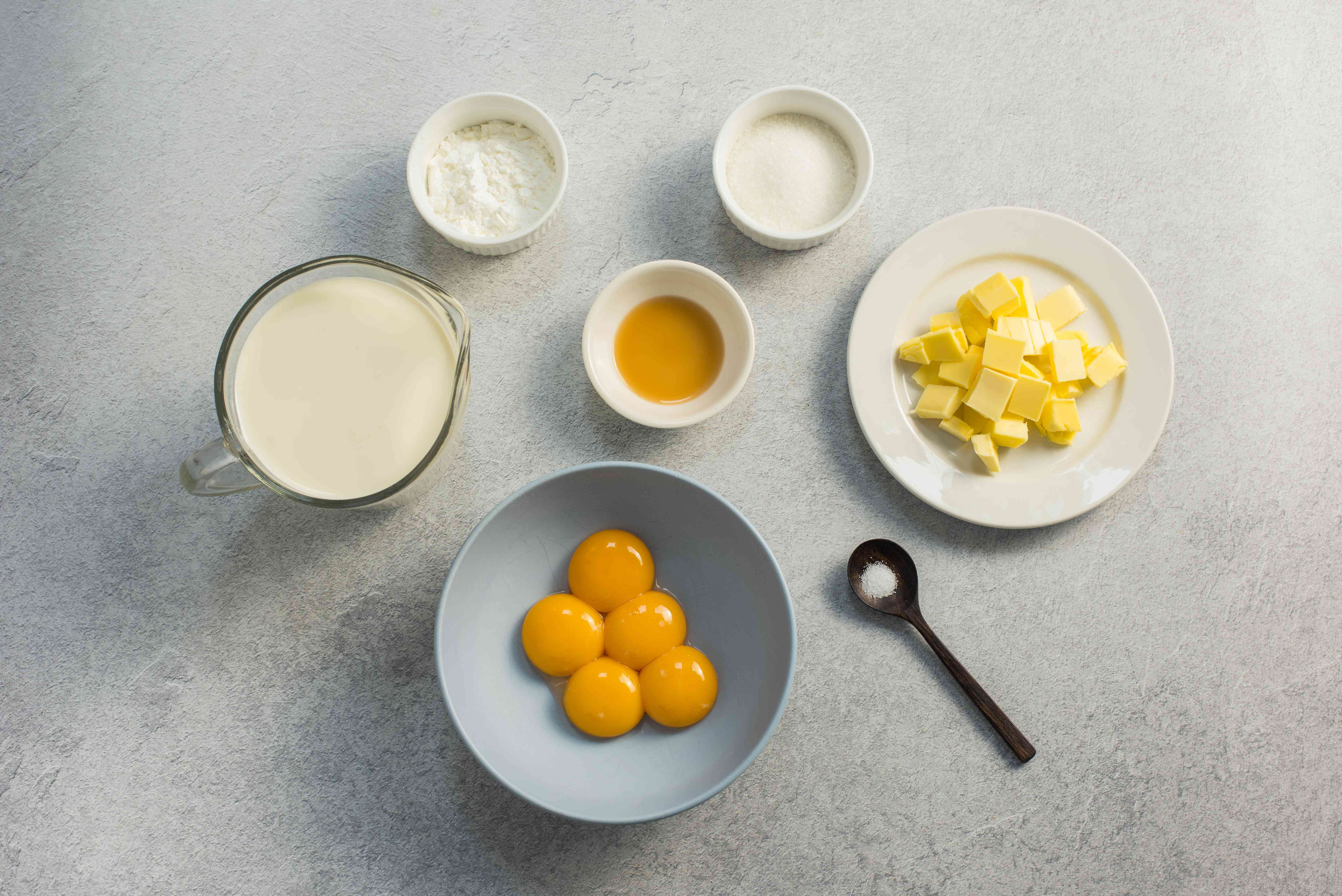 Ingredients for pastry cream