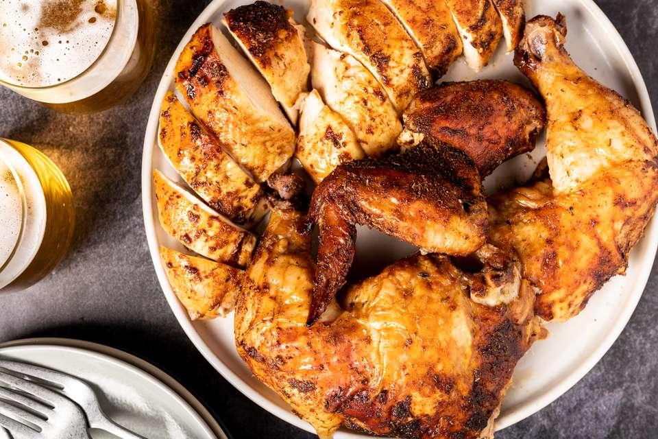 Oven Beer Can Chicken
