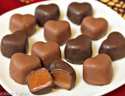 Caramel hearts