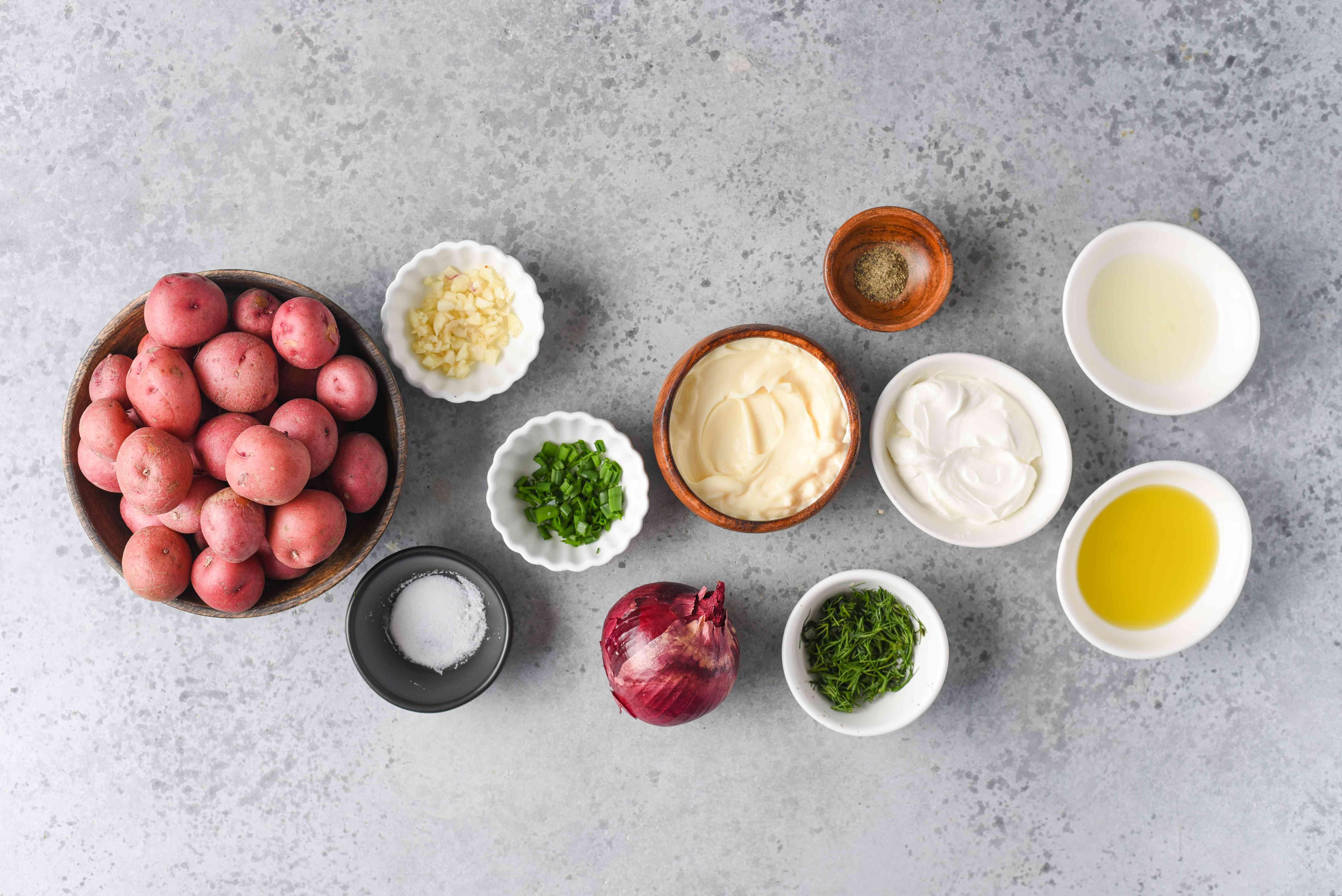 Roasted Potato Salad ingredients