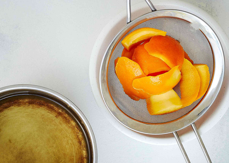 Strain out the orange peel