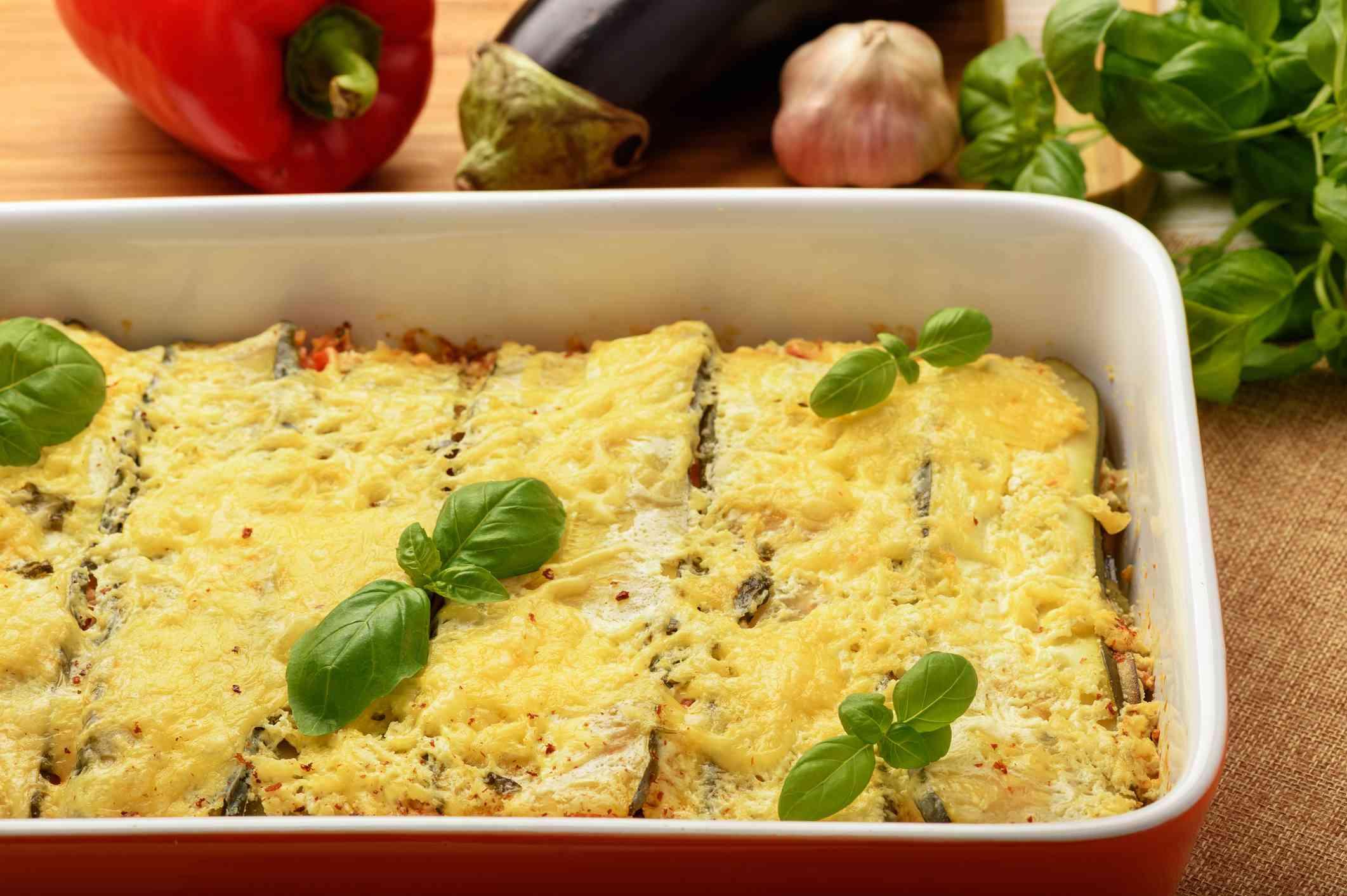 eggplant and chicken lasagna