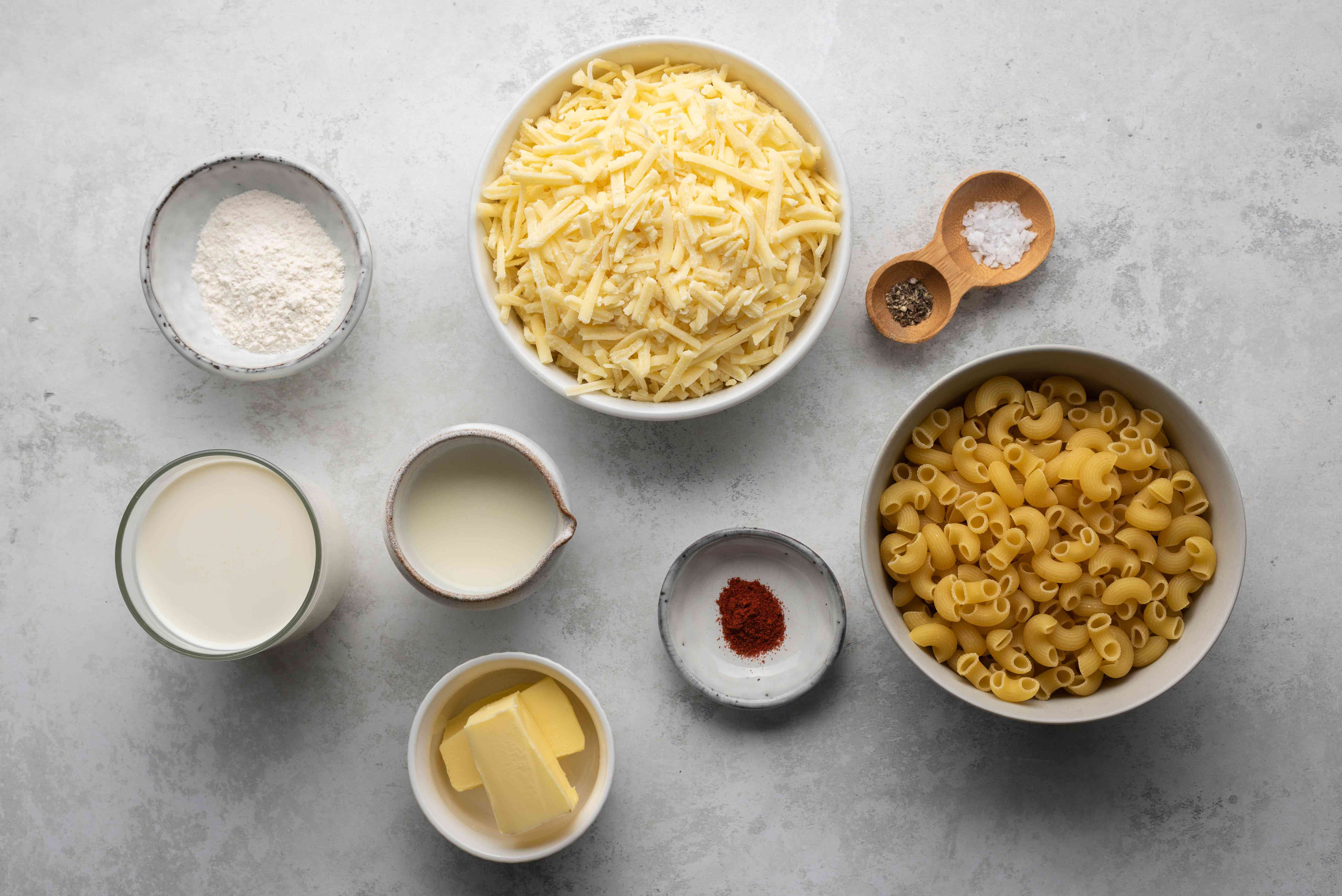 Basic Baked Macaroni and Cheese With Variations ingredients