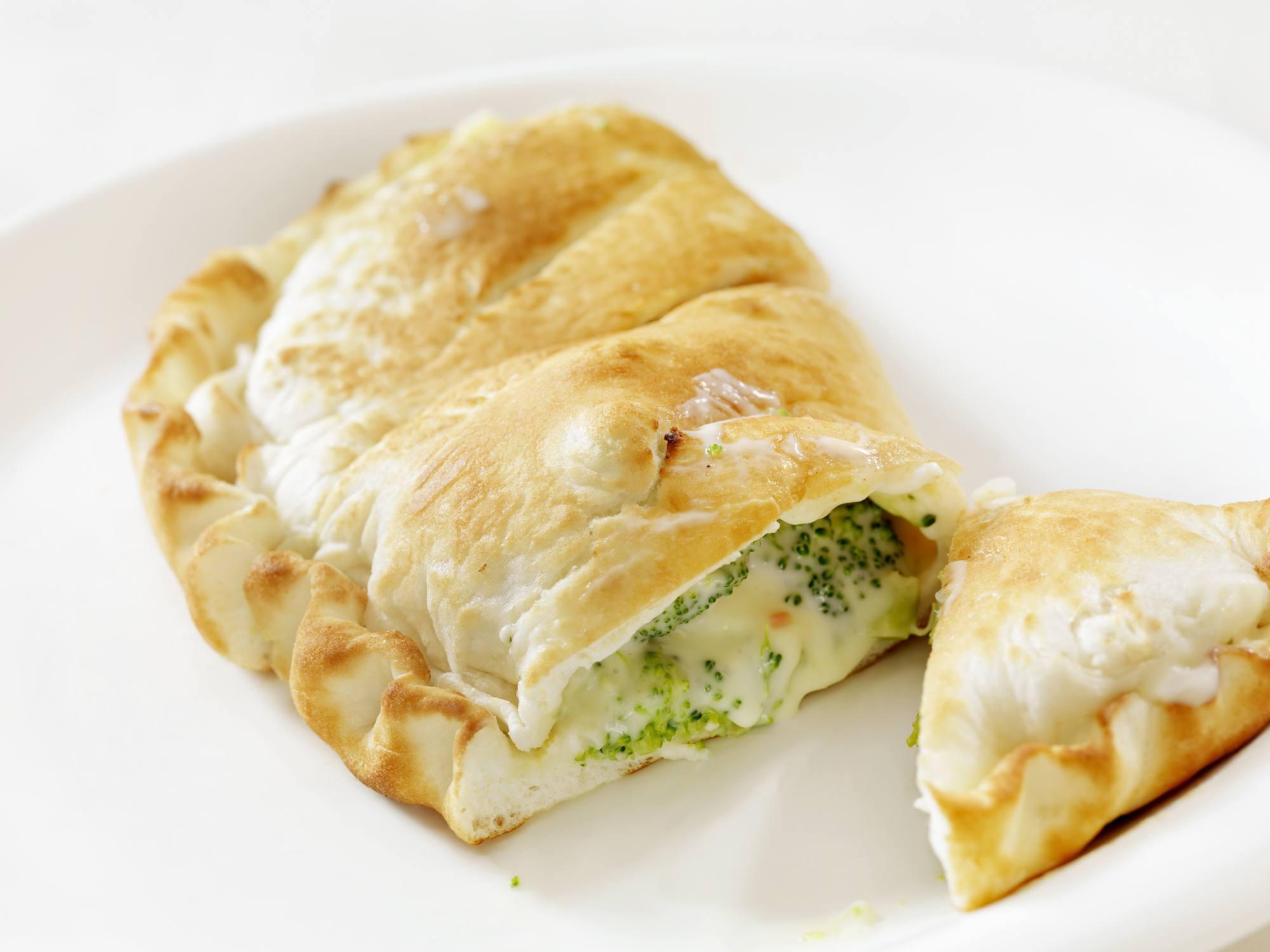 Cheese and broccoli empanada