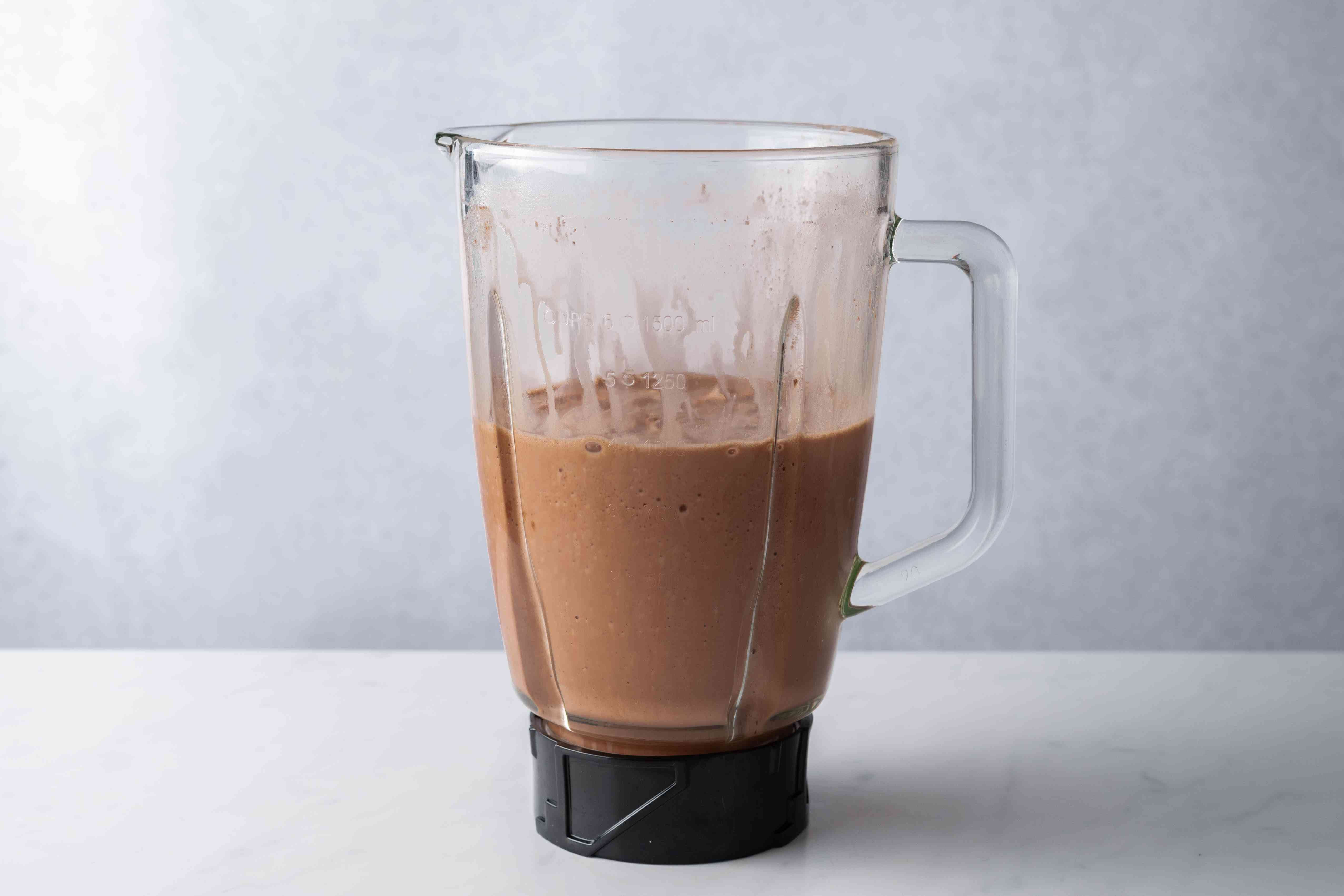 Blend the mixture on high until completely blended
