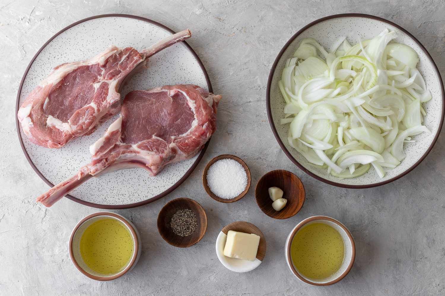 Veal Steaks With Caramelized Onions ingredients