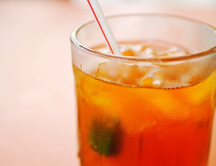 Iced oolong tea in a glass