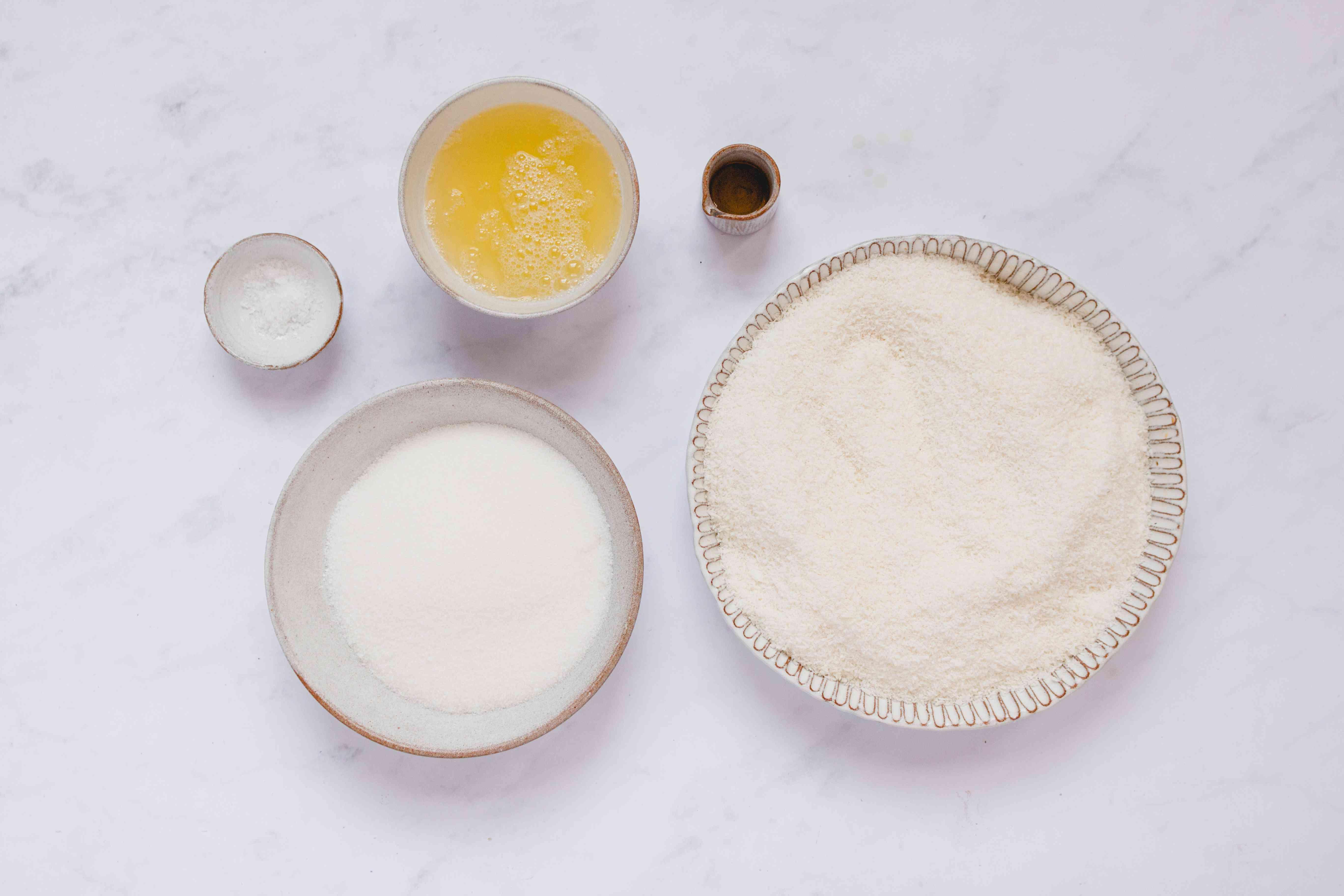Dairy-Free Coconut Macaroon Cookies ingredients