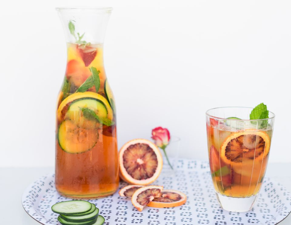 classic pimms and lemonade