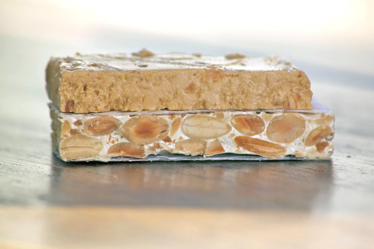 A piece of Turrón