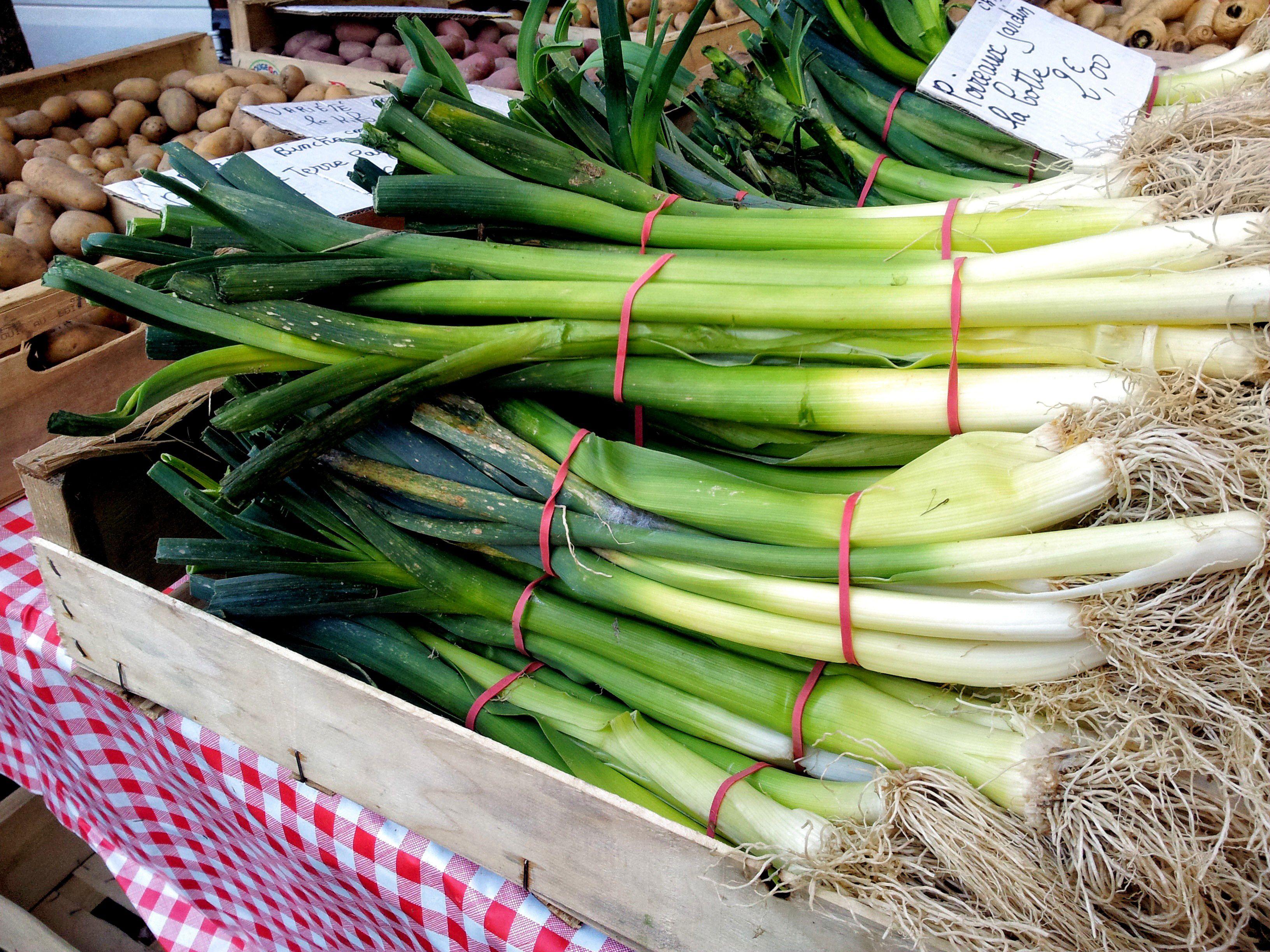 Leeks at a European Farmer's Market