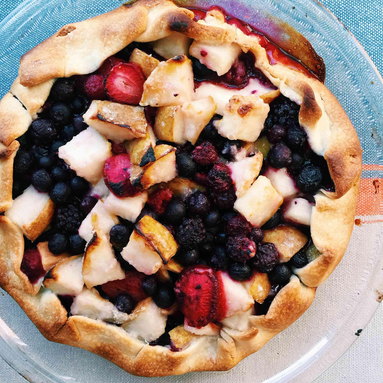 Pear and Berry Crostada