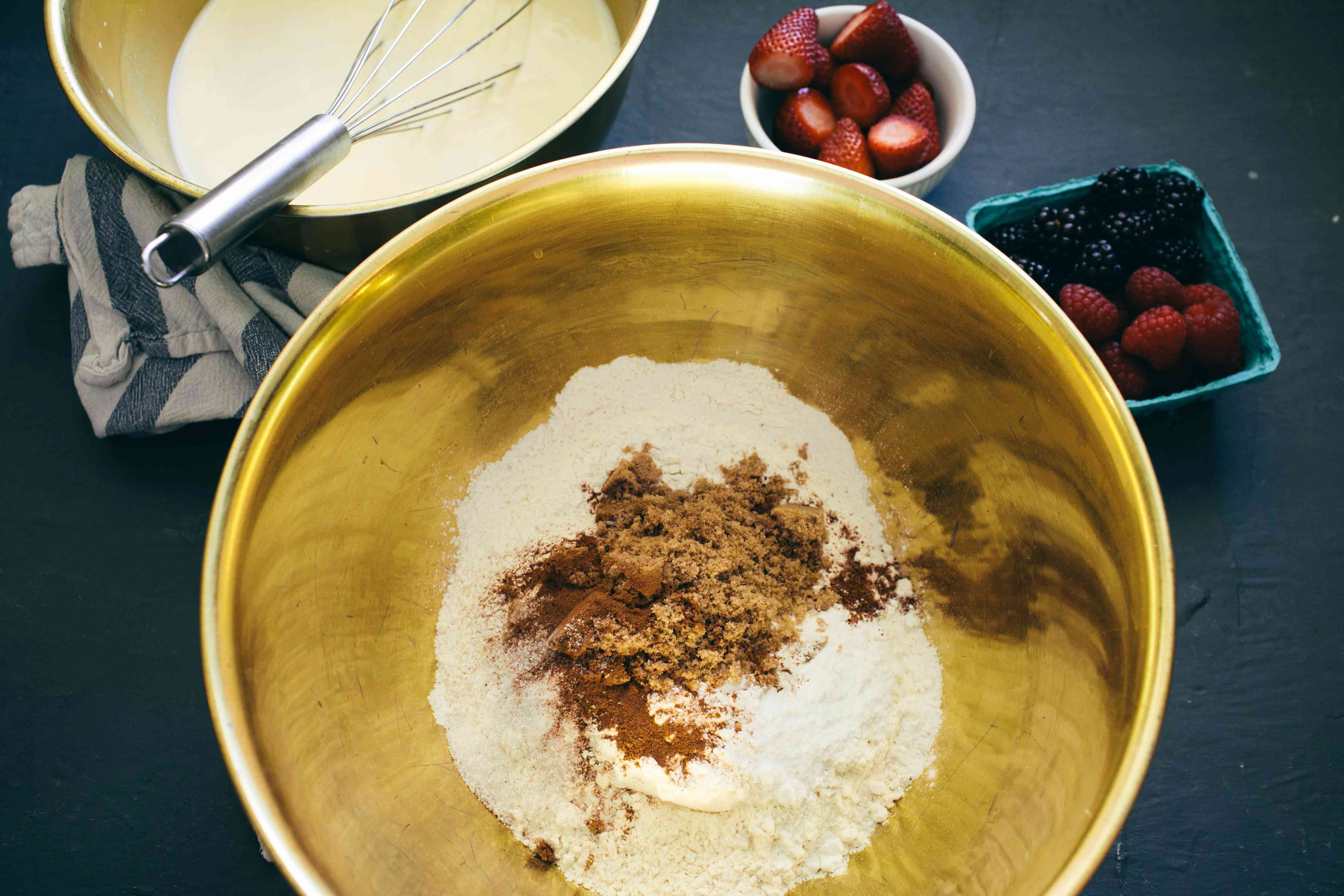 Mix dry ingredients together