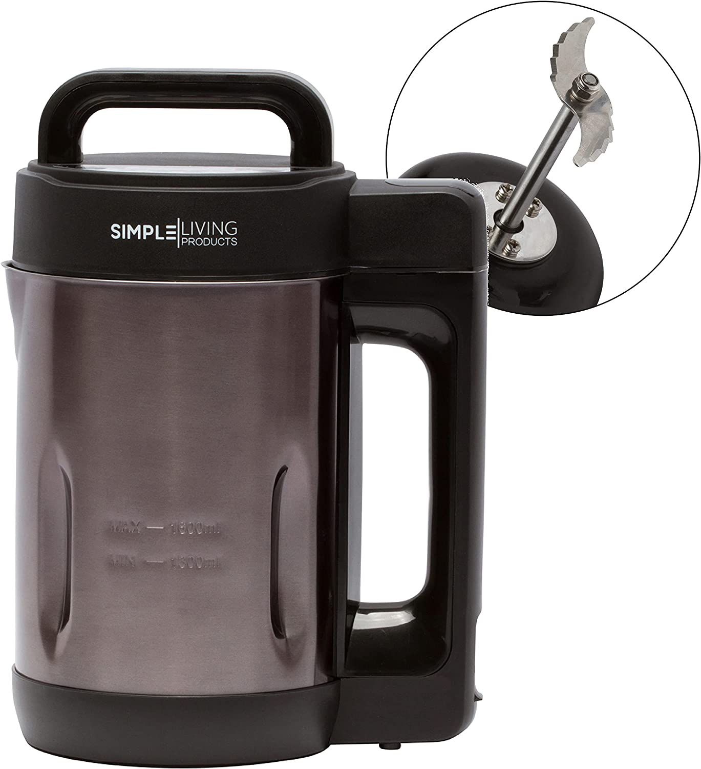 Simple Living Products 1.6-Liter Deluxe Portable Soup Maker