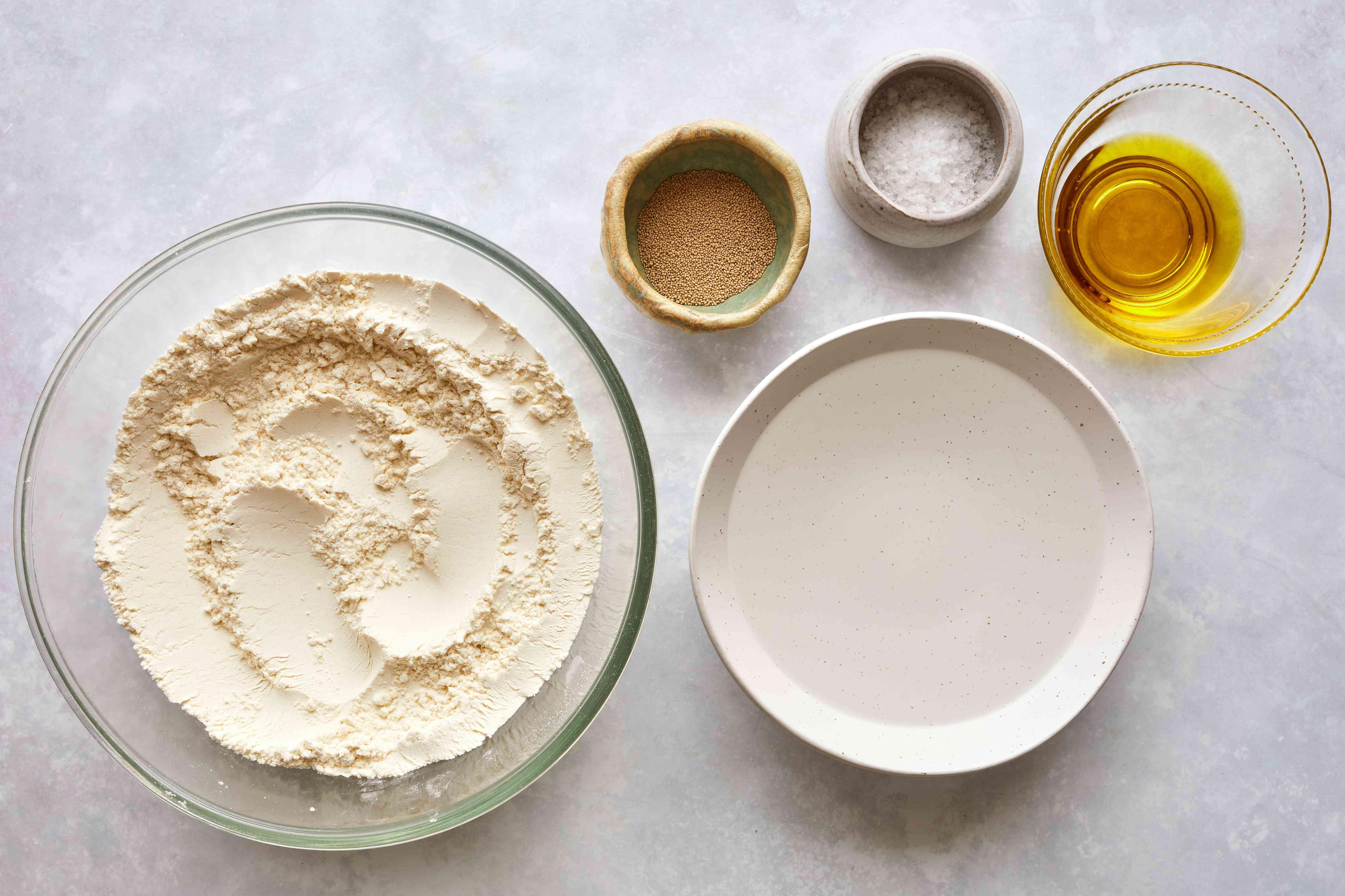 Homemade Pan Pizza Dough ingredients