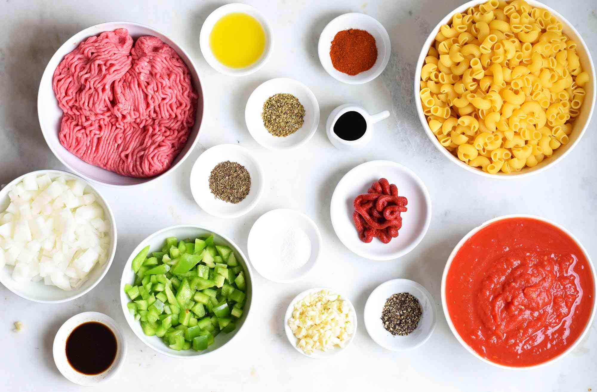 instant pot goulash ingredients