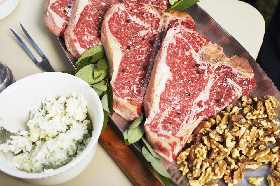 Blue Cheese T-Bone Steaks