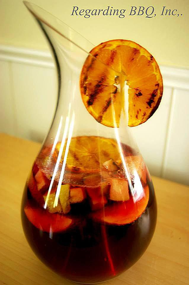 Red Wine Sangria with Grilled Fruit