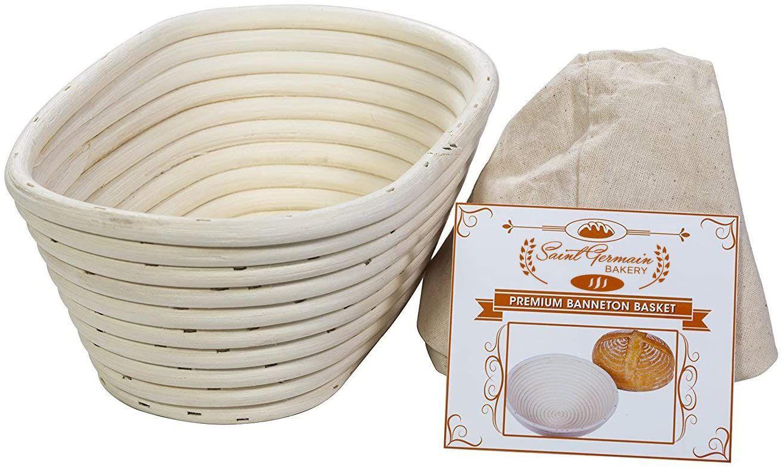 Saint Germain Bakery 10-Inch Premium Oval Banneton