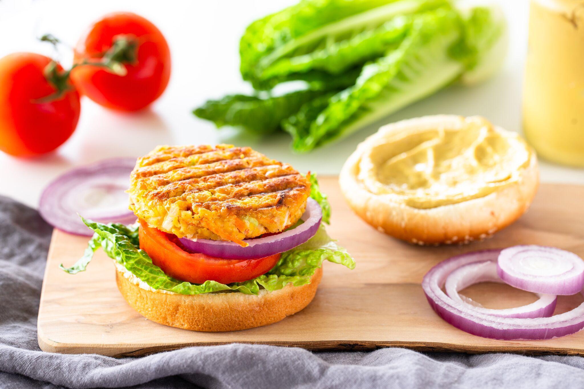 Vegan Chickpea Veggie Burger Recipe