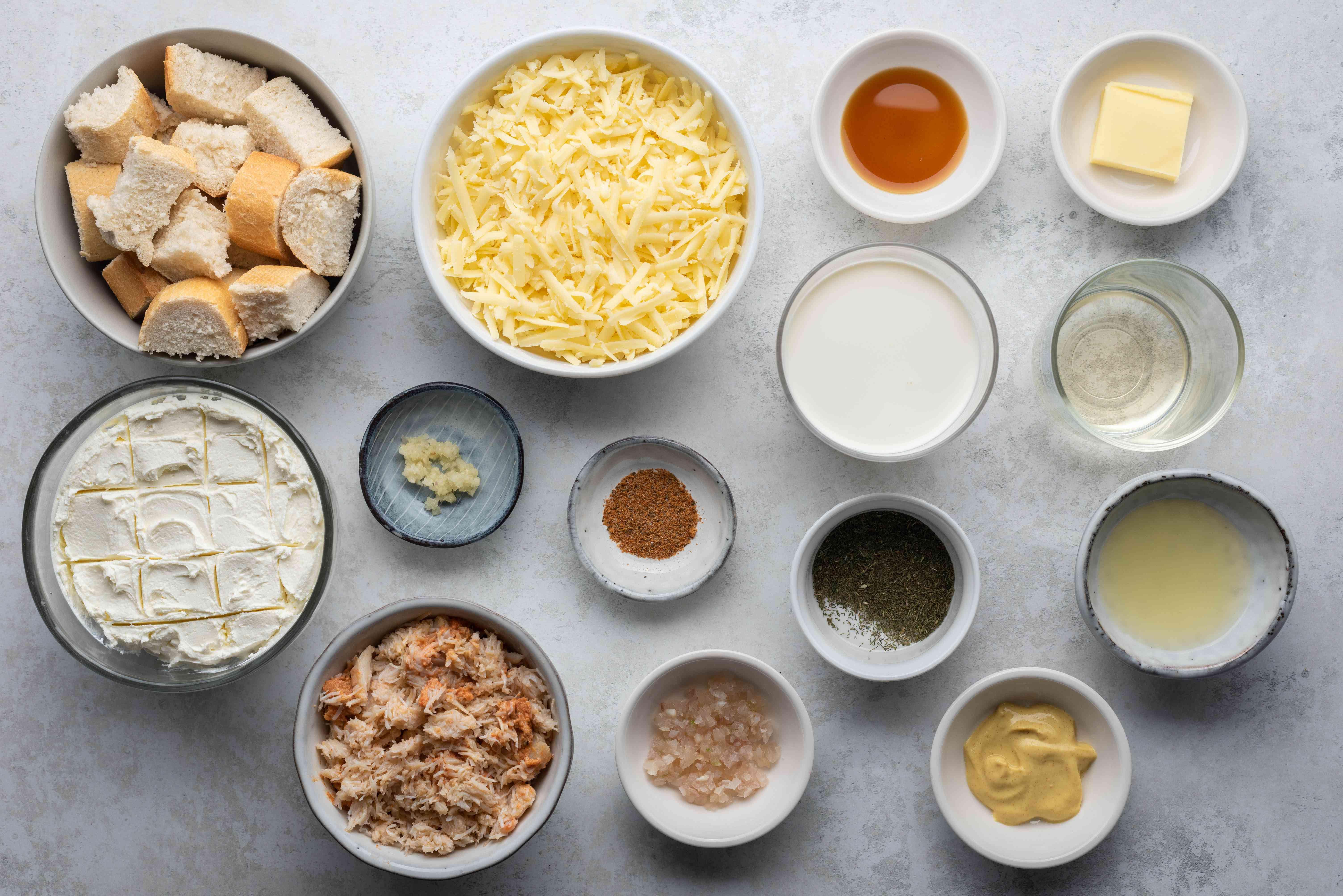 Hot Crab Fondue ingredients