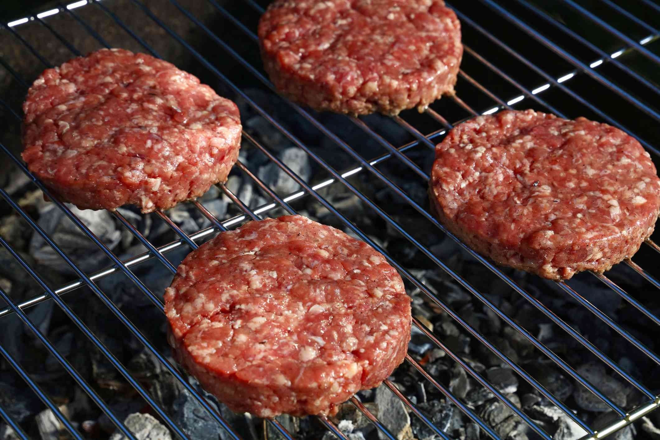 Burger on a clean grate