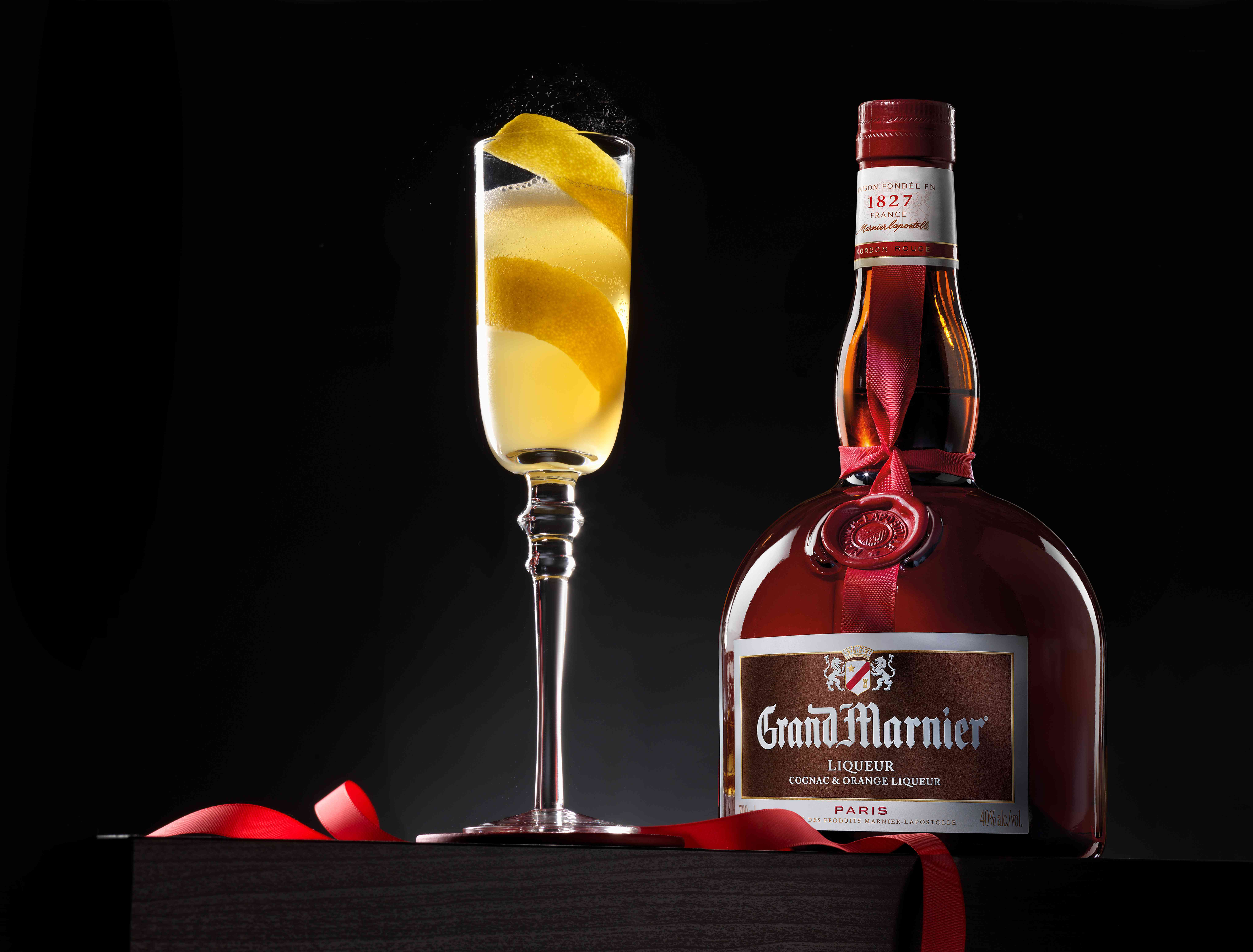 Grand Marnier With French 75 Cocktail