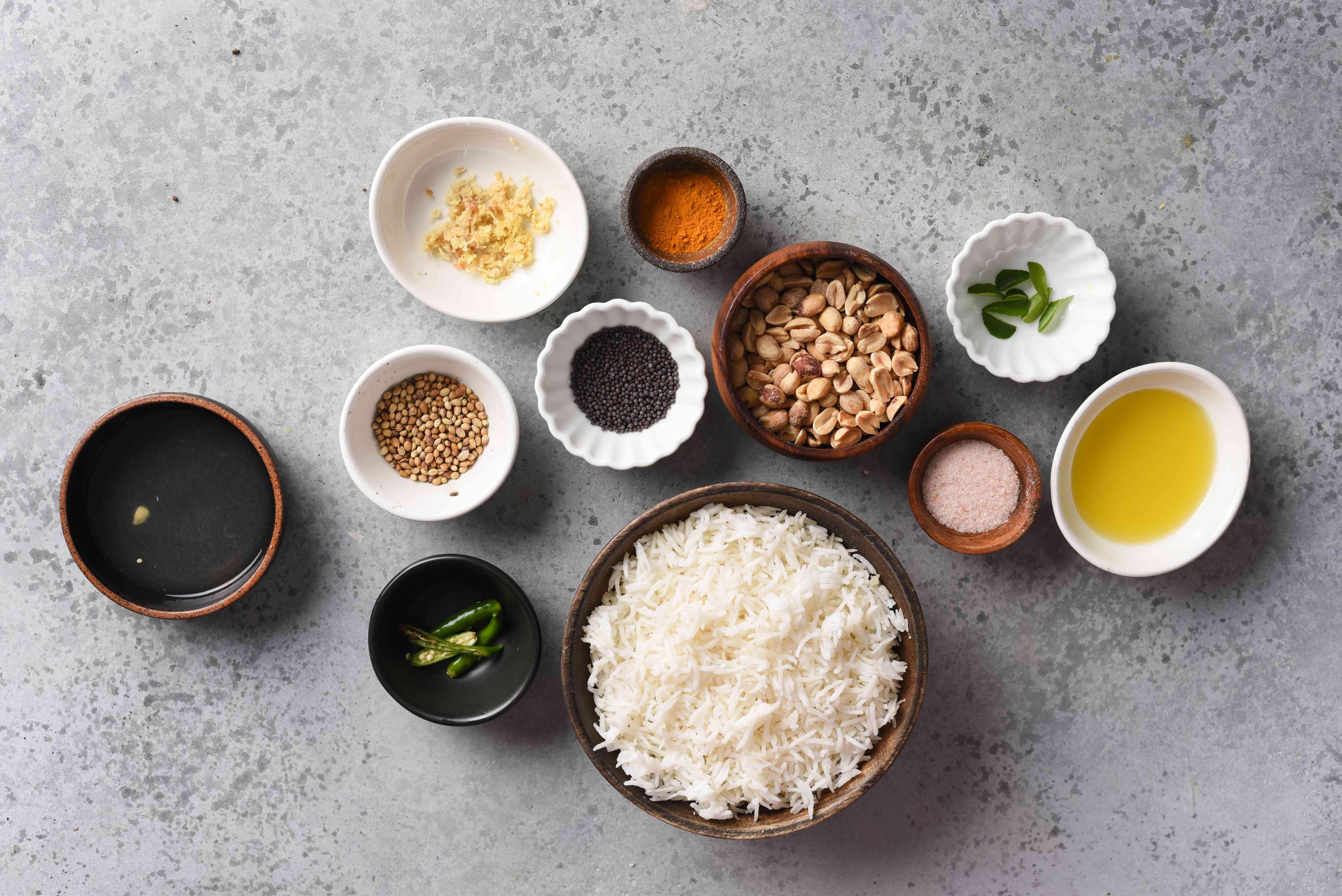 South Indian lemon rice recipe ingredients