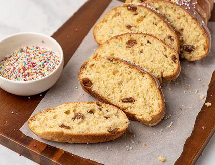 Sweet Easter Bread With Sprinkles