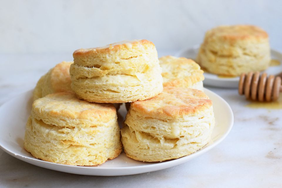 buttermilk biscuits on a plate