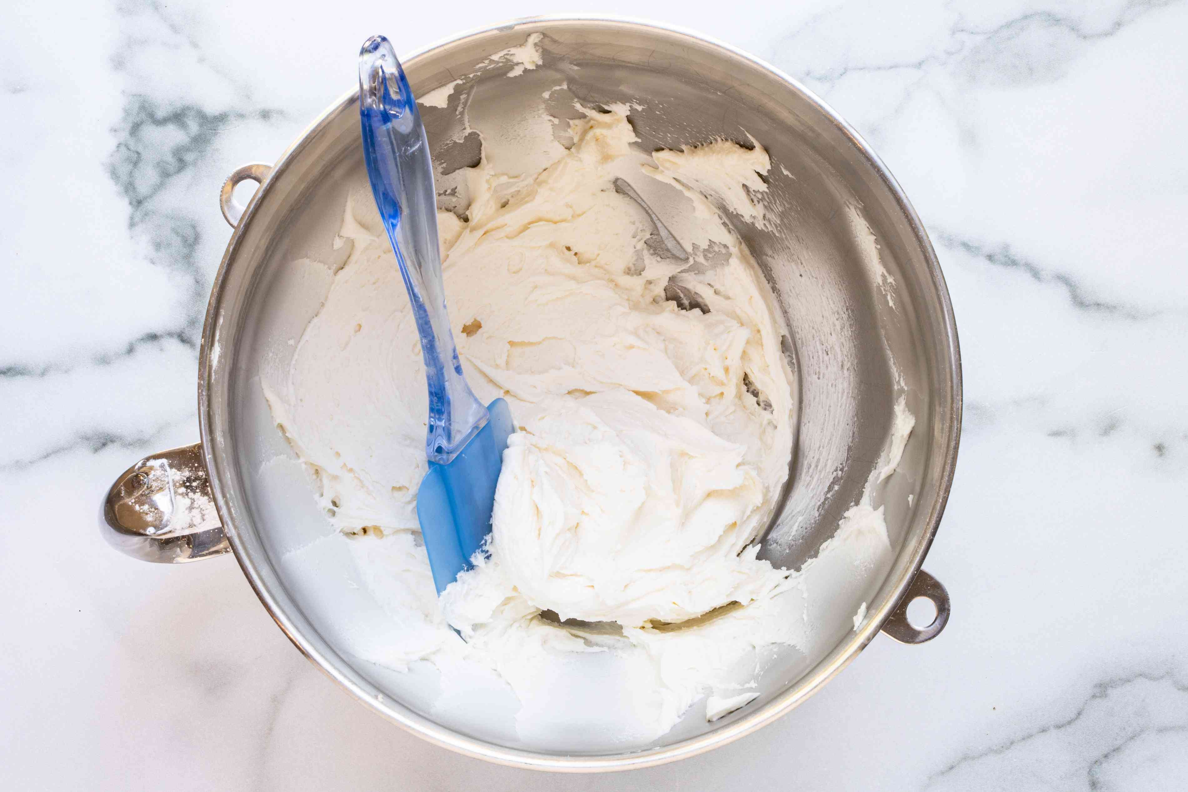sugar cookie frosting in a mixing bowl