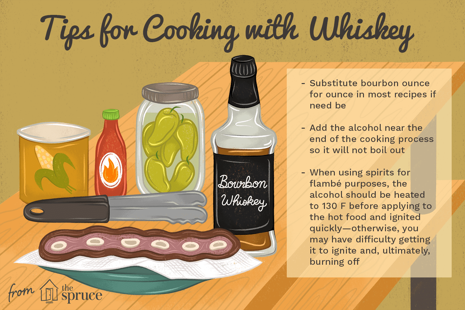 tips for cooking with whiskey