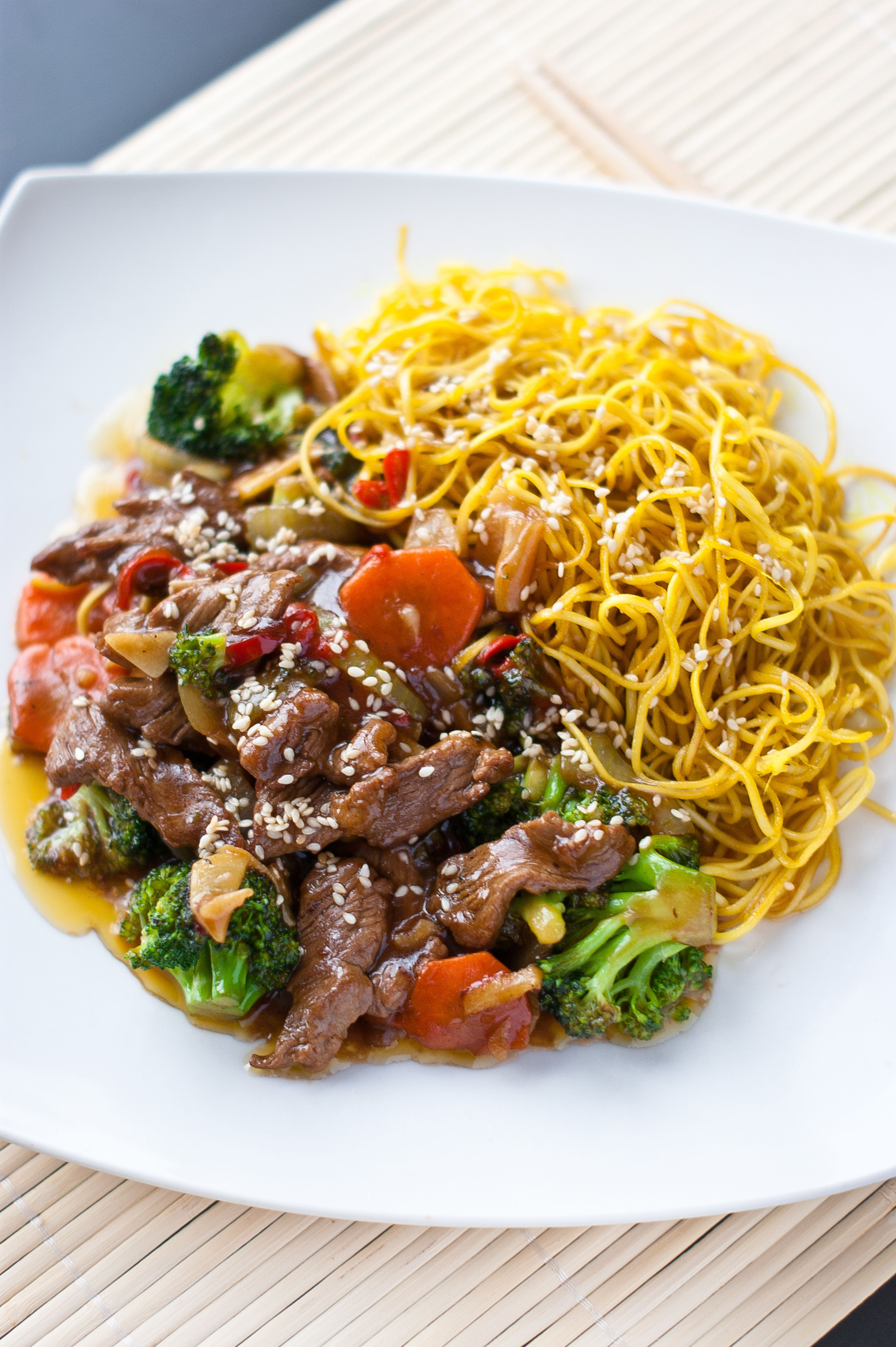 Slow Cooker Beef Chow Mein
