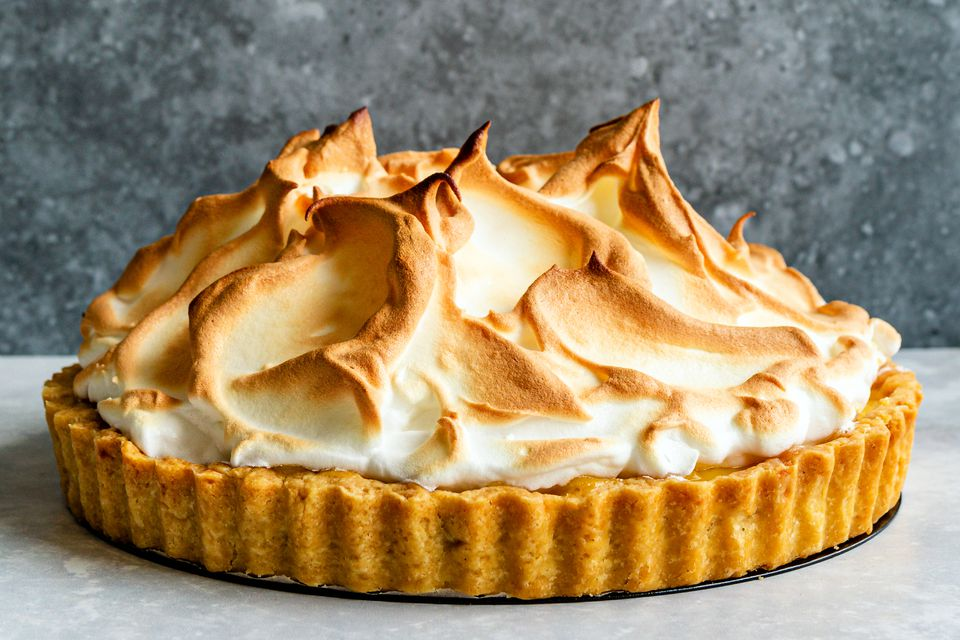 Classic meringue pie topping with billowy peaks