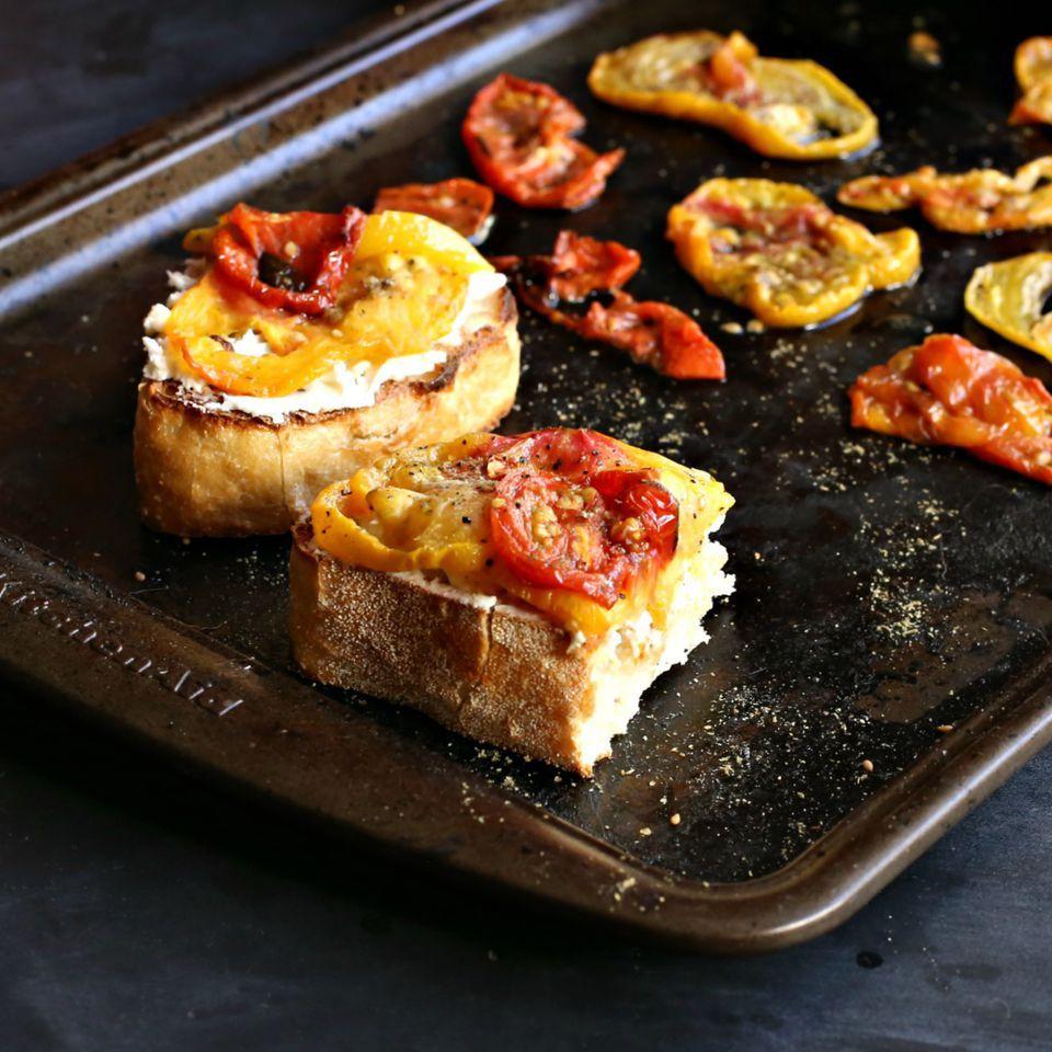Heirloom Tomato Tartine with Feta and Za'atar