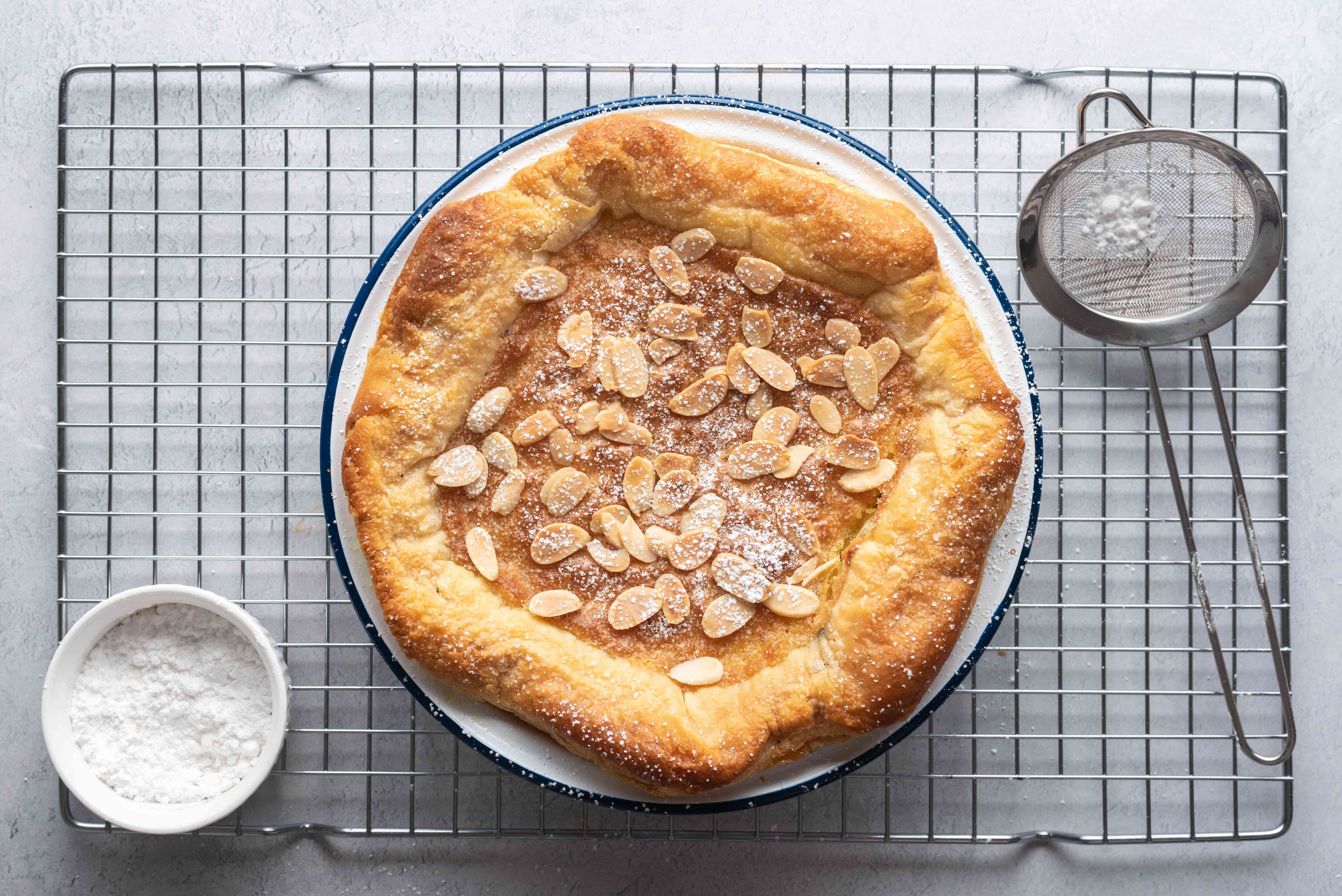 Traditional Bakewell Pudding, Sprinkle with confectioner's/icing sugar while still warm