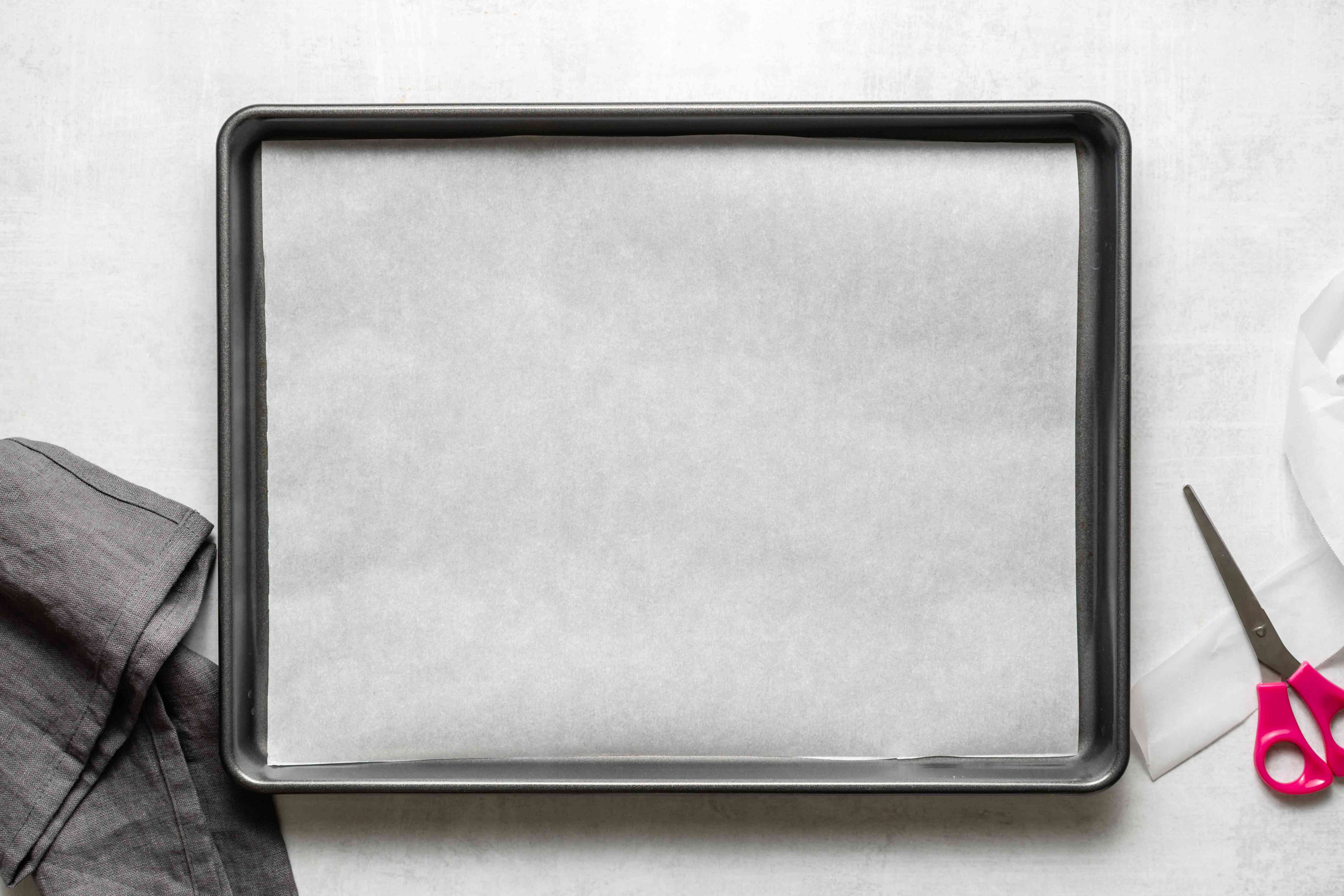 Line baking sheets with parchment paper