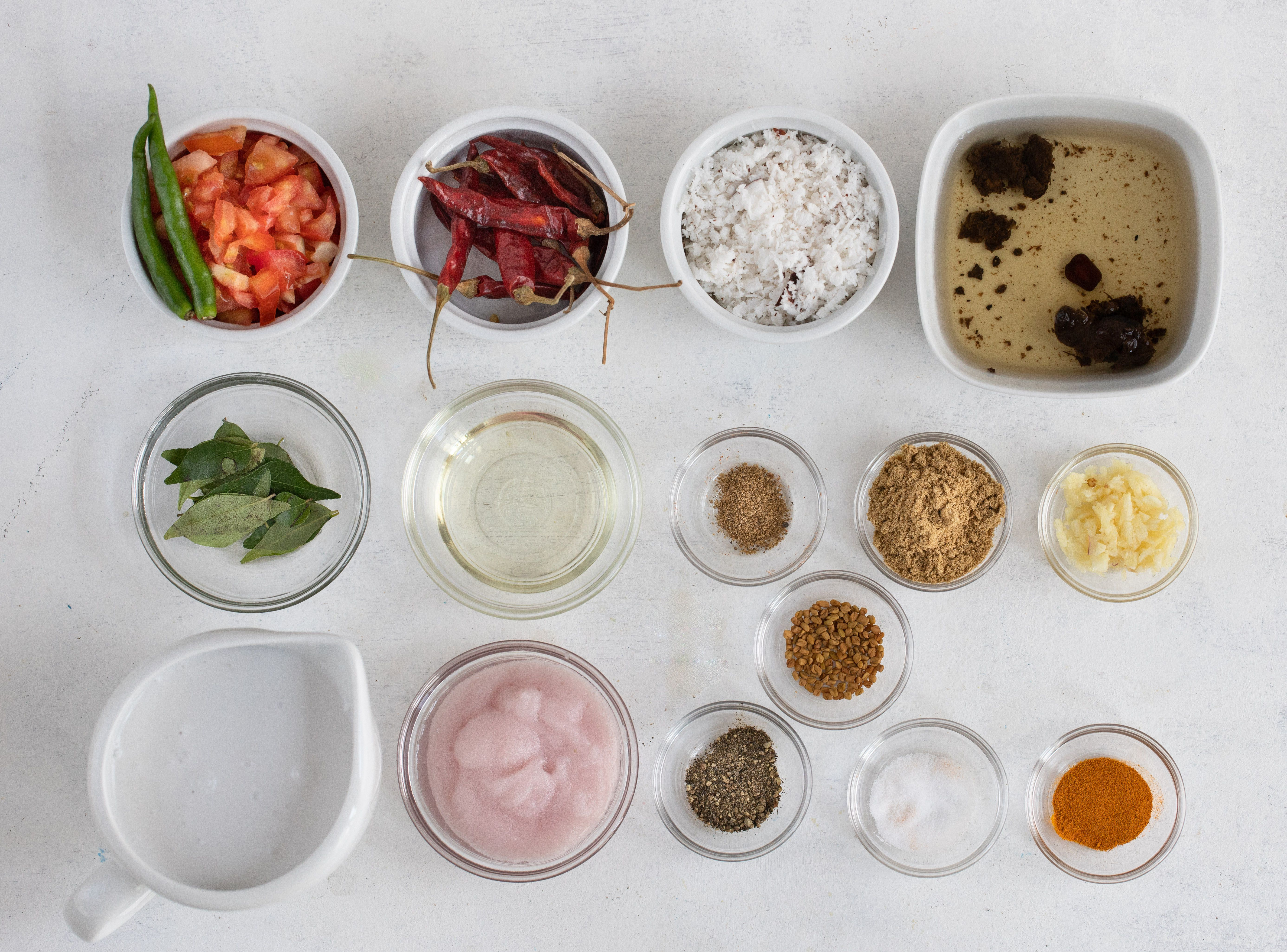 ingredients for south indian fish curry