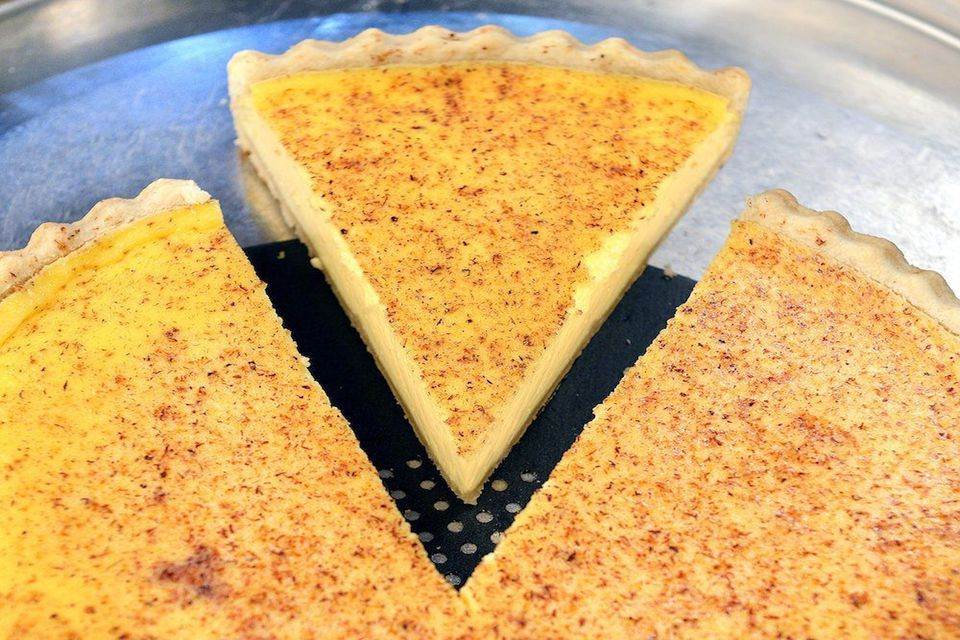An egg custard tart