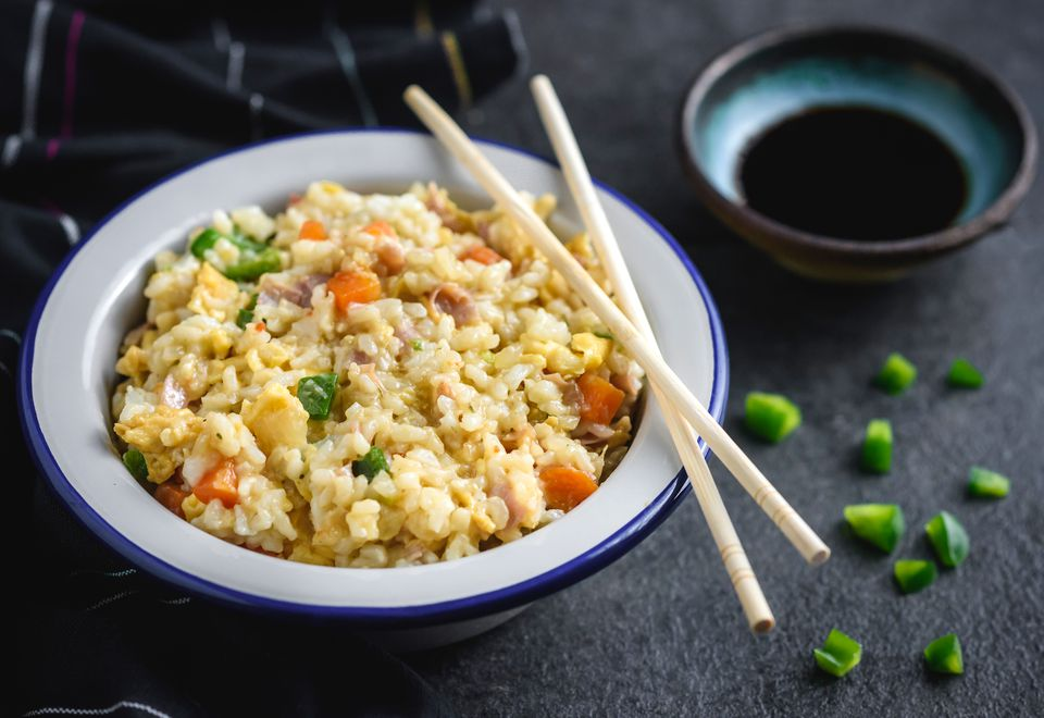 arroz frito con carne de cerdo