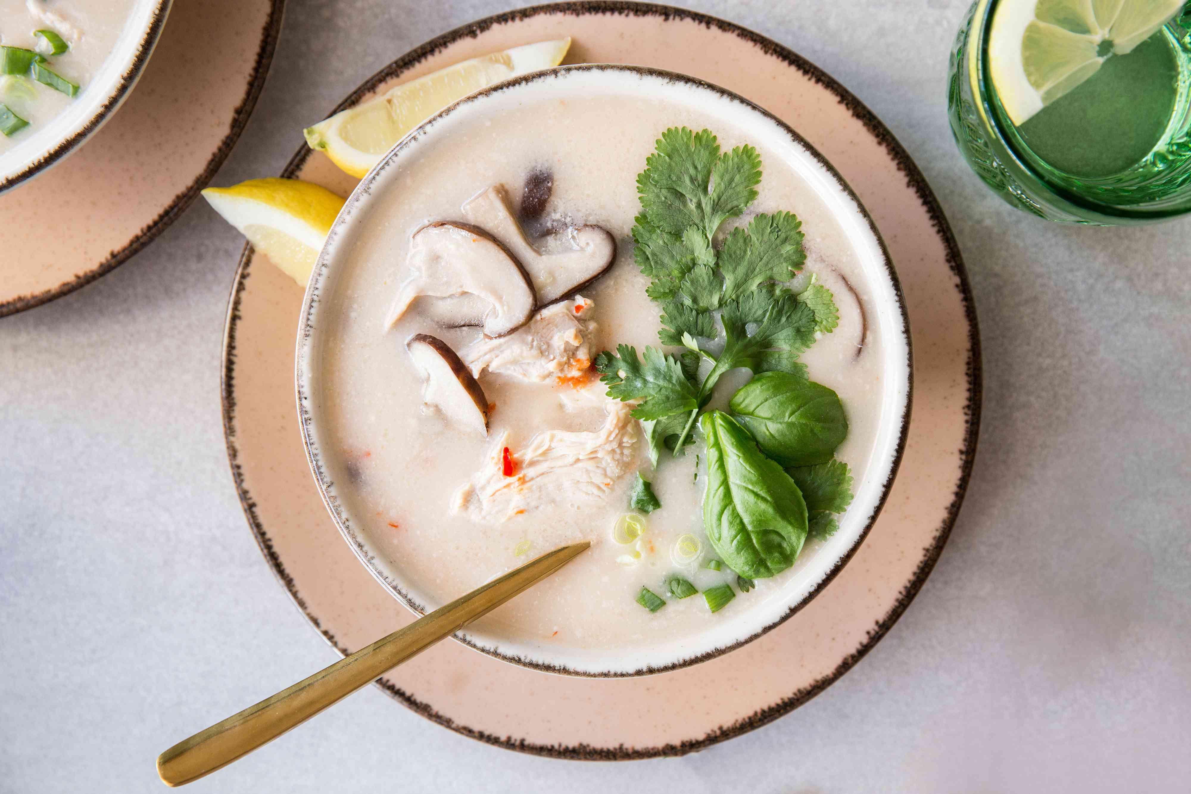 Thai Chicken Soup With Coconut Milk (Tom Ka Gai)