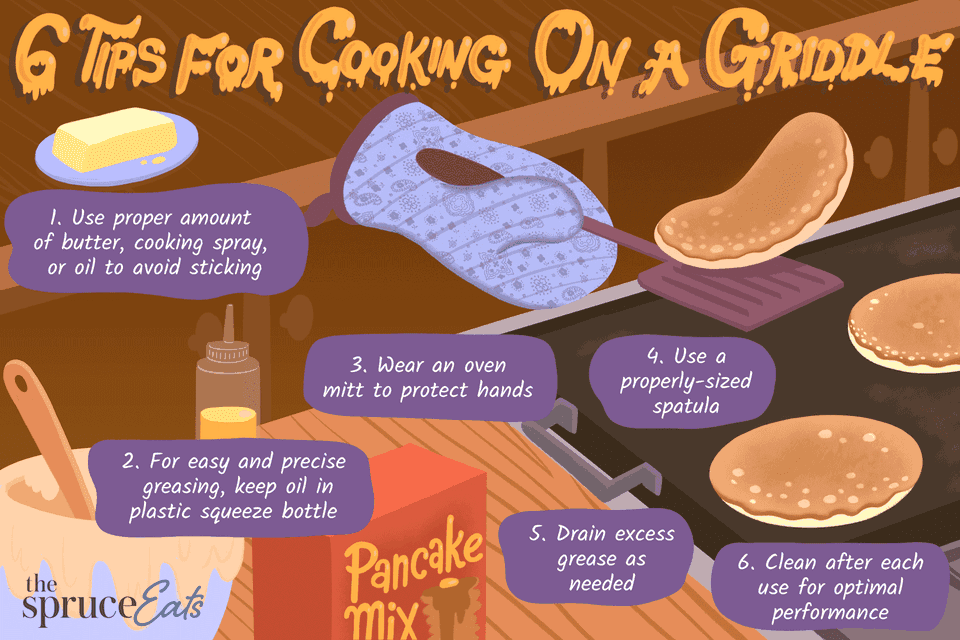 Tips for cooking on a griddle