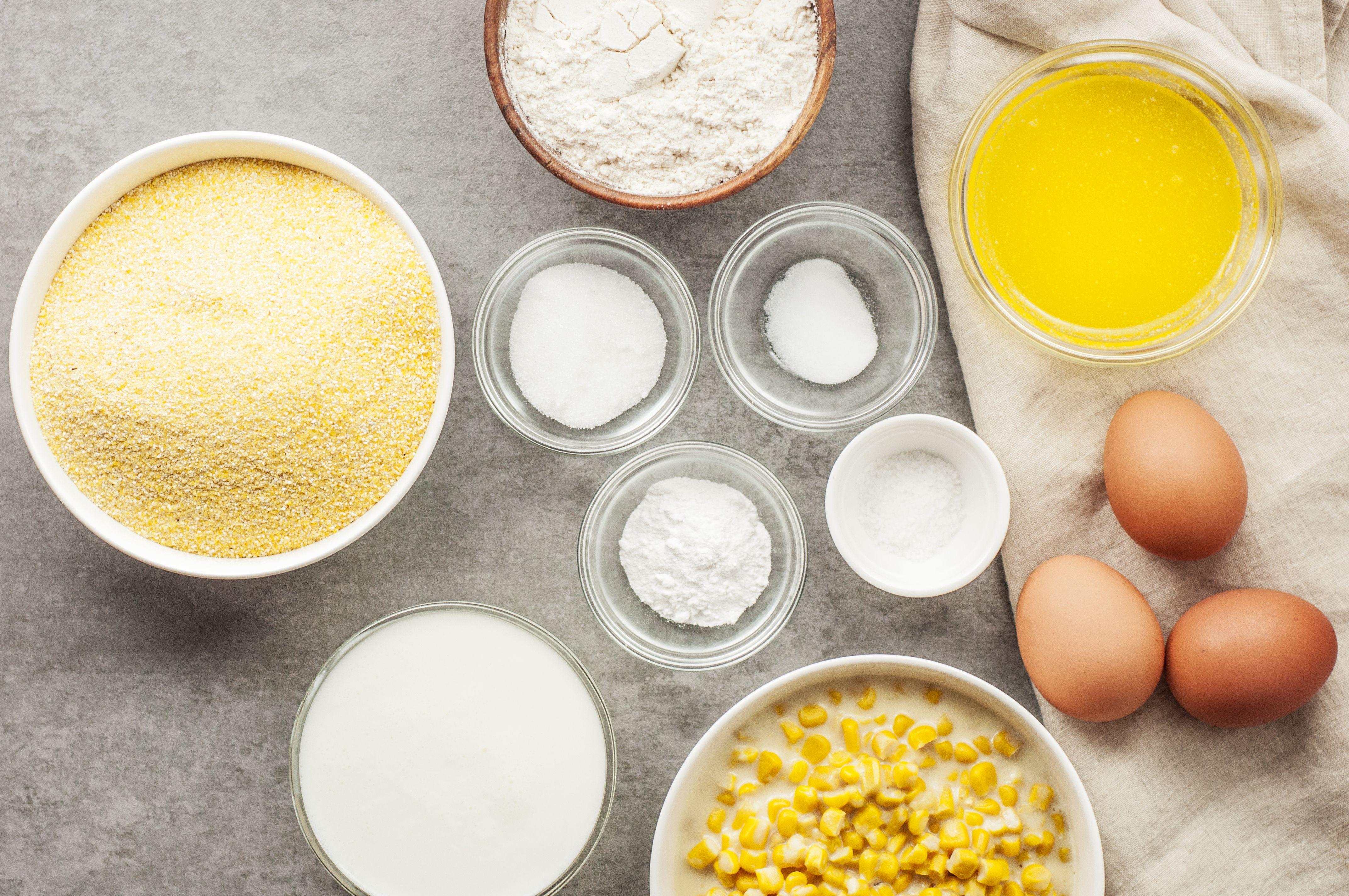 Moist Buttermilk Cornbread With Cream-Style Corn Ingredients