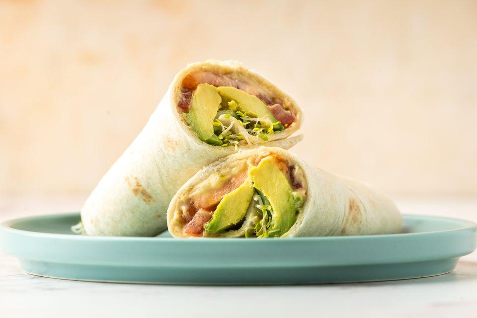 Vegan Hummus Avocado Wrap