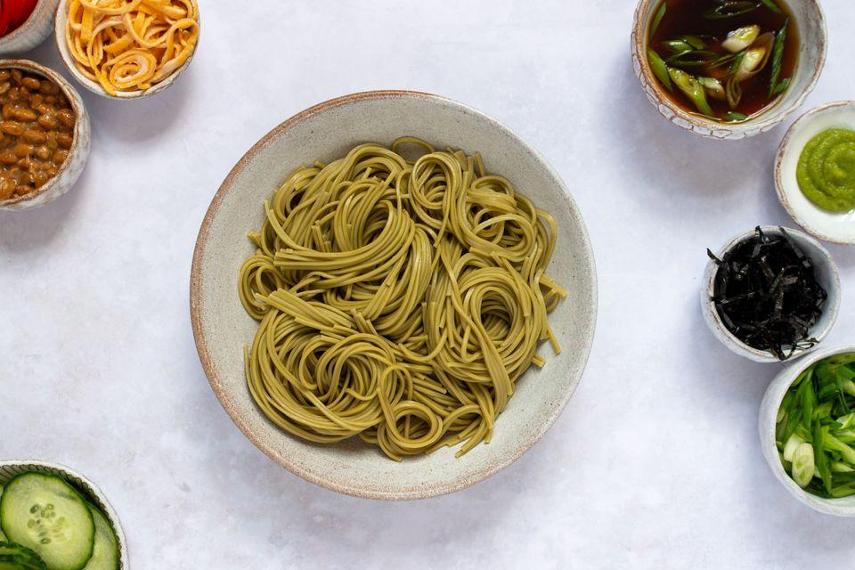 Cold Green Tea Soba Noodles (Cha Soba)