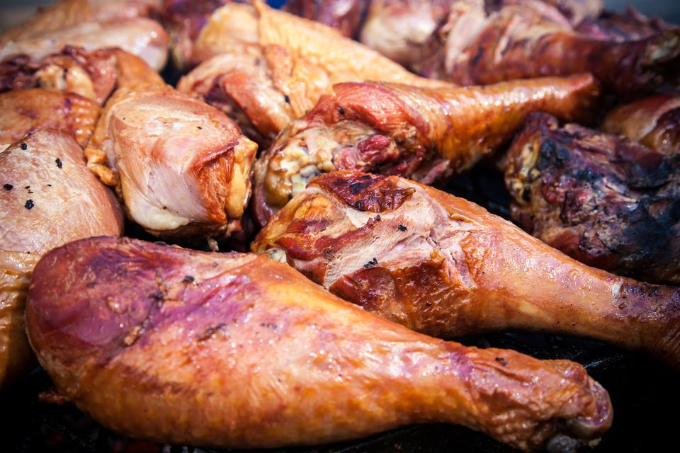Grilled Buttermilk Turkey Drumsticks