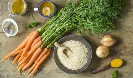 Quinoa, millet and vegetables