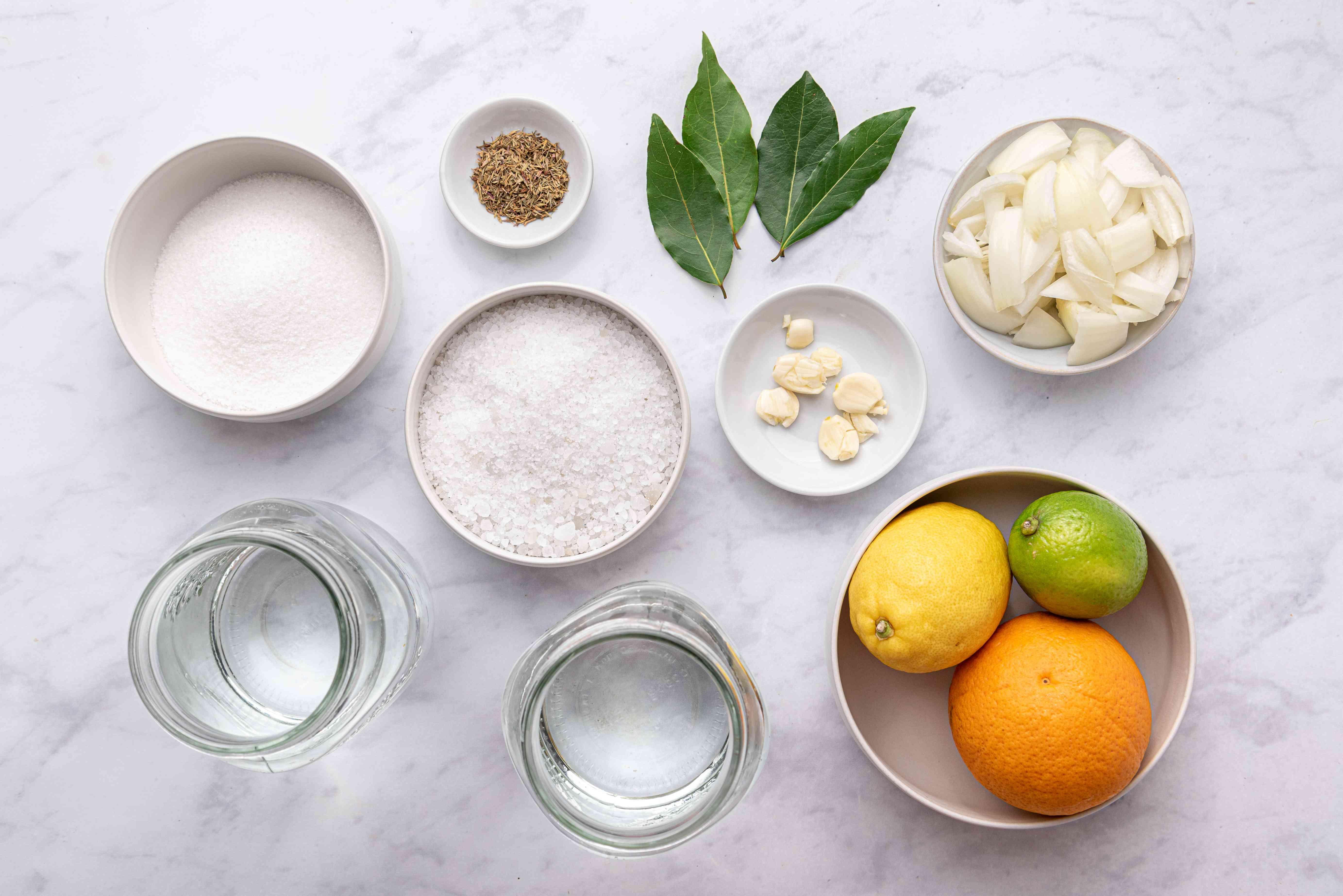 Ingredients for citrus turkey brine